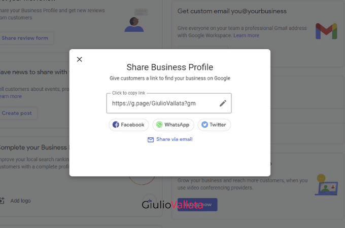 Business profile name Google My Business