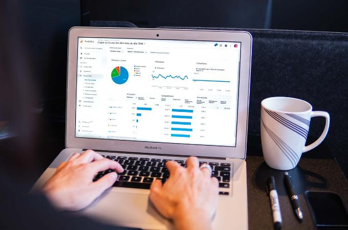 Google Analytics dashboard on Mac