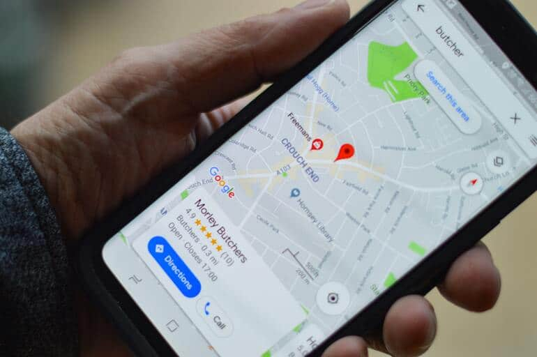 Google My business maps listing